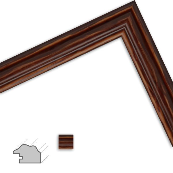 Bilderrahmen nach Maß H443 Landhaus-Stil aus Massivholz