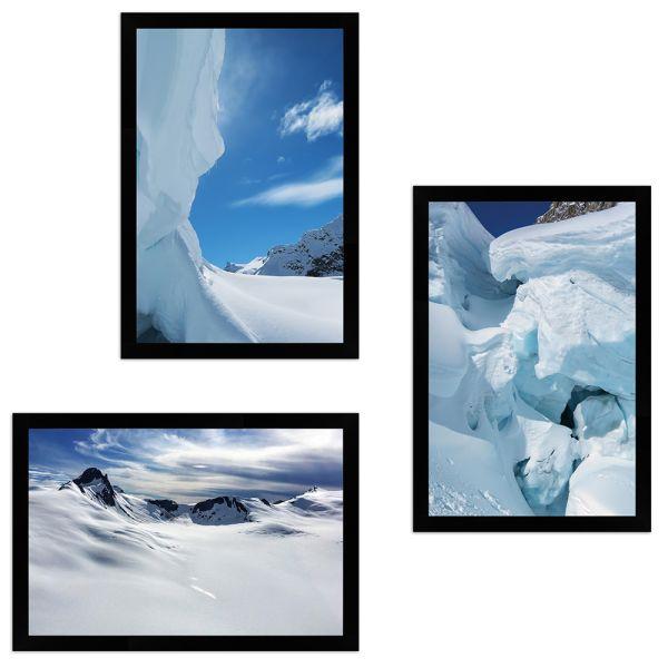 Wandgalerie H950 Schwarz mit Poster - 3er Set | Alaska Edition 1