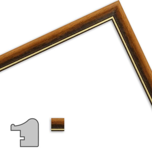 Bilderrahmen nach Maß H091 Antik aus Massivholz