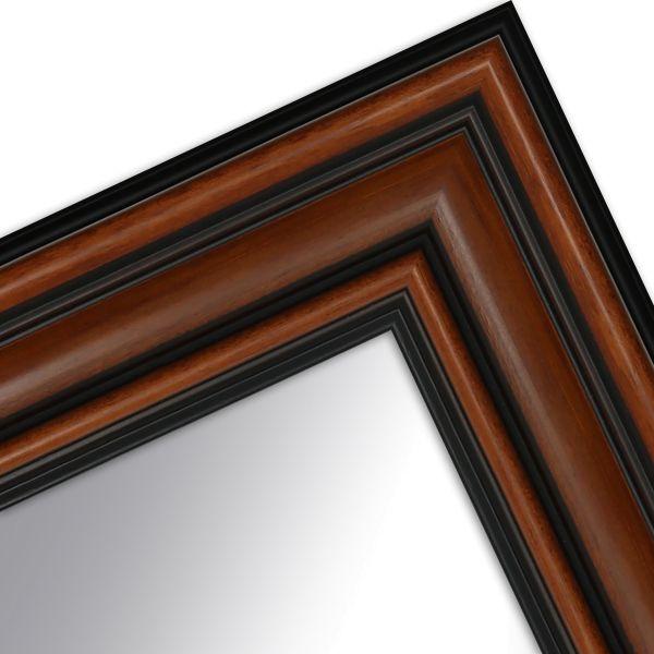 Wandspiegel nach Maß H017 Antik Breit aus Massivholz