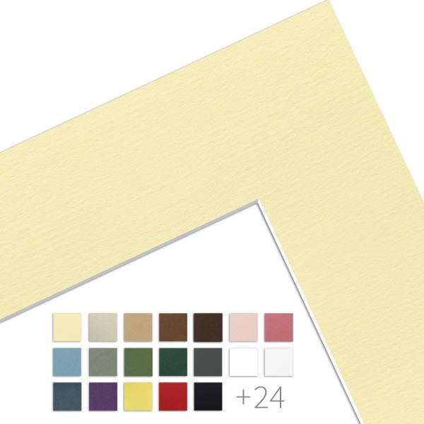 Passepartout mit individuellem Innenausschnitt Kartonstärke 1,4 mm