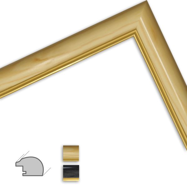 Bilderrahmen nach Maß H383 klassisch aus Massivholz