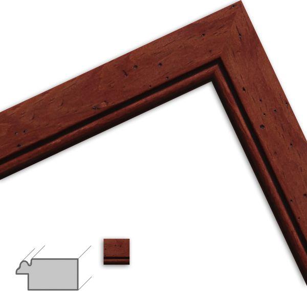 Bilderrahmen nach Maß H133 Landhaus-Stil aus Massivholz