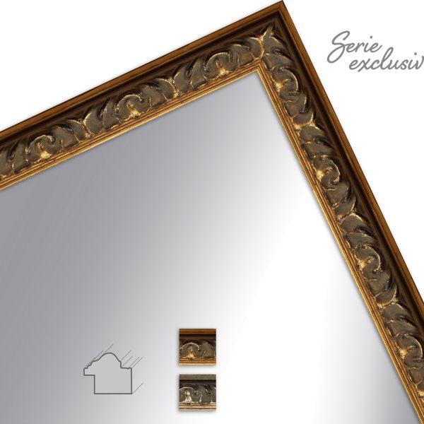 Wandspiegel E036 Barock aus Massivholz