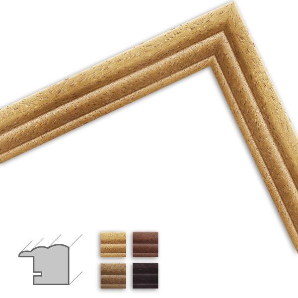 Bilderrahmen nach Maß H410 Landhaus-Stil aus Massivholz