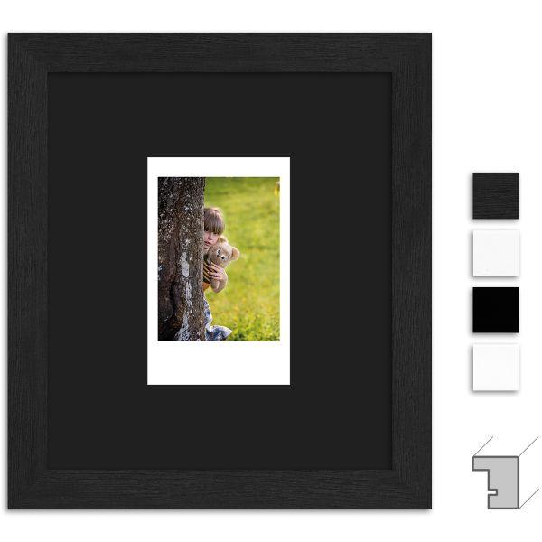 Bilderrahmen H950 Klassisch schmal mit Passepartout schwarz für 1 Instax Mini