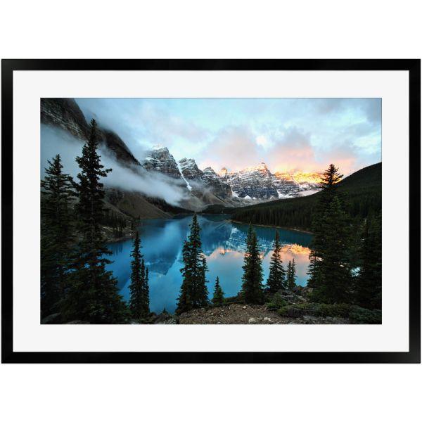 Moränensee Banff Nationalpark Alberta Kanada | Poster mit Holzrahmen 50x70 cm