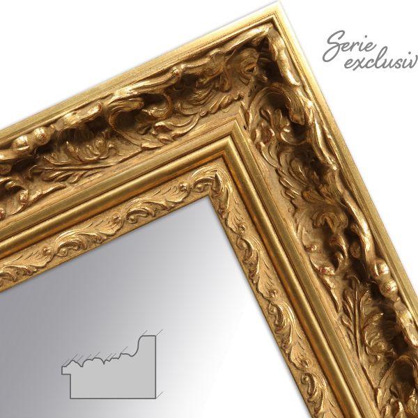 Wandspiegel E014 Barock Gold aus Massivholz