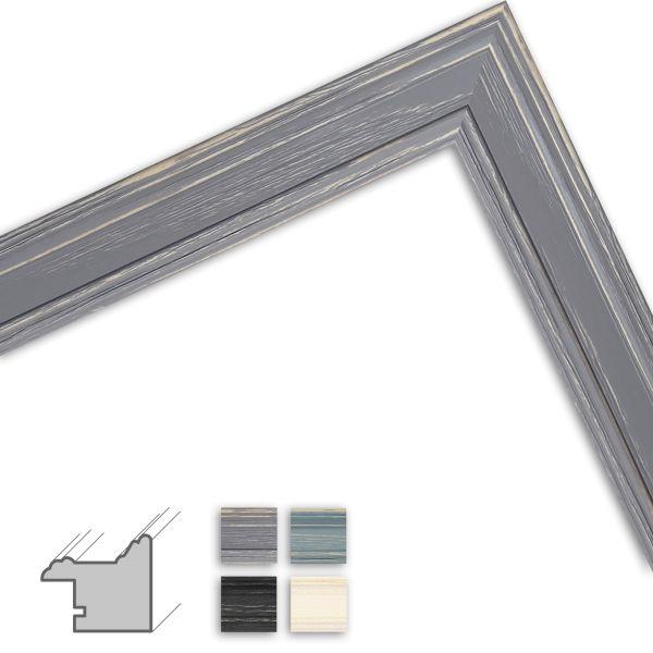 Bilderrahmen nach Maß H470 Landhaus-Stil aus Massivholz