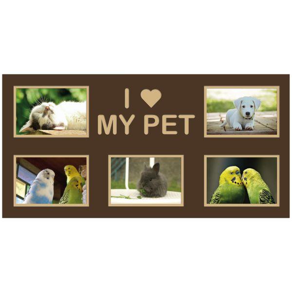 Themenpassepartout T58 I love my Pet + 5 Fotos