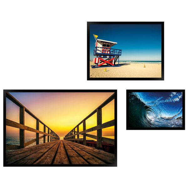 Wandgalerie H950 Schwarz mit Poster - 3er Set   Amerika Edition 3