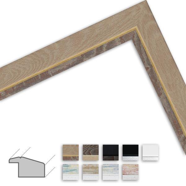 Bilderrahmen nach Maß H490 Modern aus Massivholz