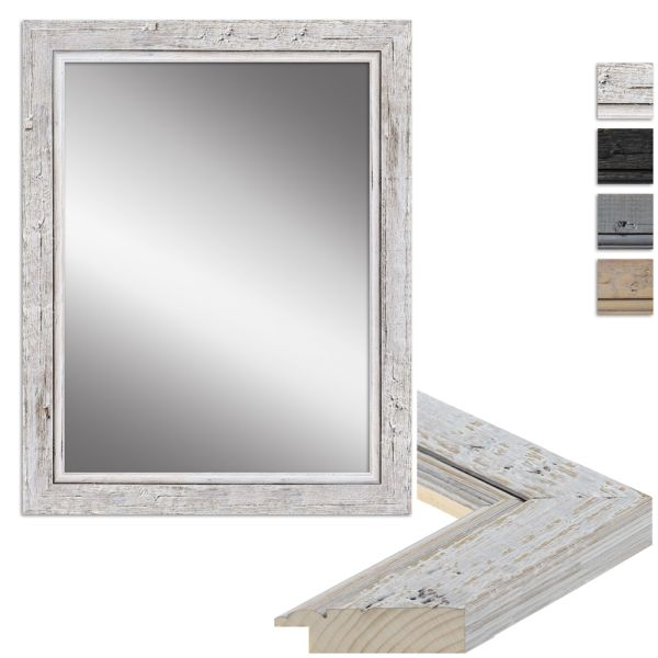 Wandspiegel H660 Shabby-Chic aus Massivholz