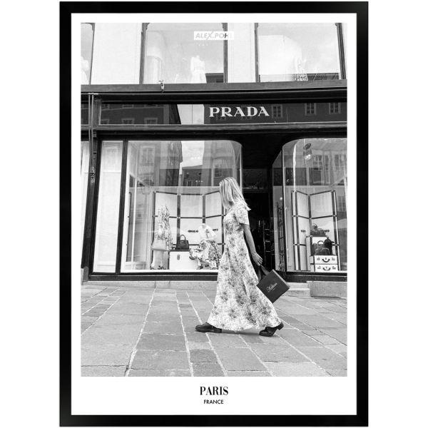 Frankreich Paris by Alex Pohl | Poster mit Holzrahmen 50x70 cm