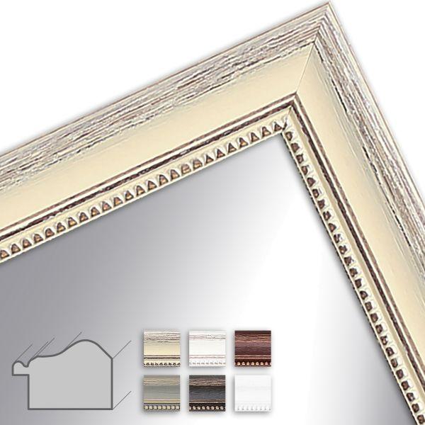 Wandspiegel nach Maß H390 Shabby-Chic aus Massivholz