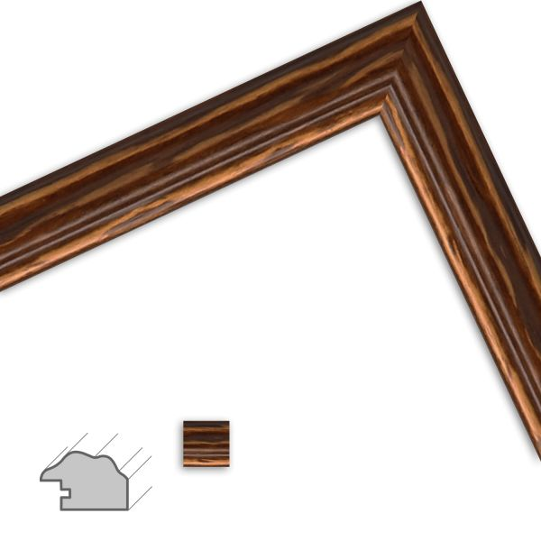 Bilderrahmen H442 Landhaus-Stil aus Massivholz
