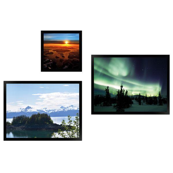 Wandgalerie H950 Schwarz mit Poster - 3er Set | Alaska Edition 4