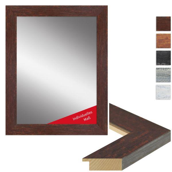 Wandspiegel nach Maß H610 Vintage-Look aus Massivholz