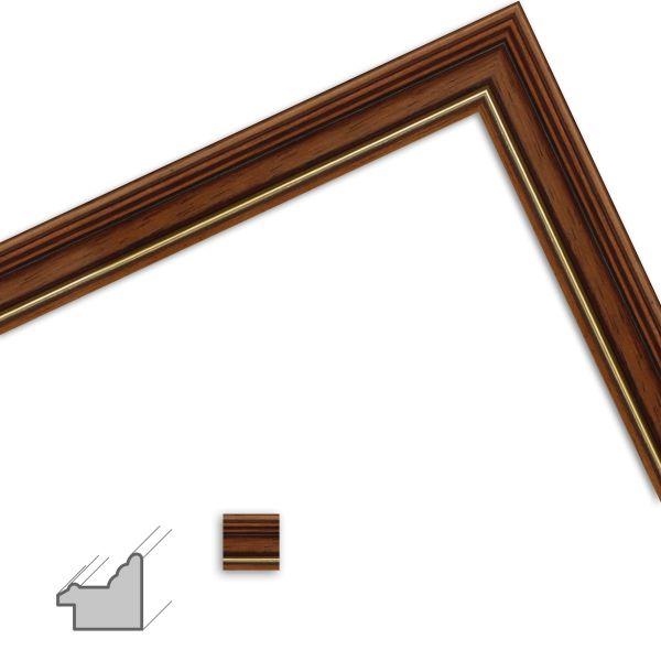 Bilderrahmen nach Maß H182 Antik aus Massivholz