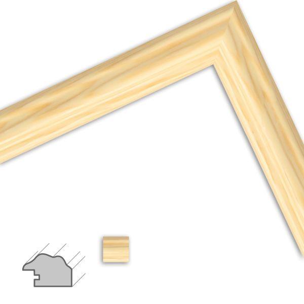 Bilderrahmen nach Maß H441 Landhaus-Stil aus Massivholz