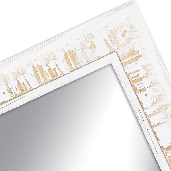 Wandspiegel nach Maß H630 Shabby-Chic aus Massivholz