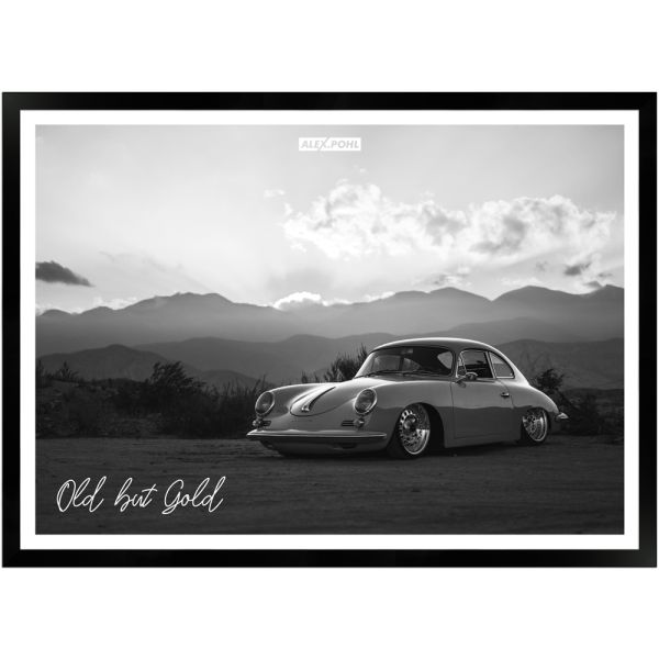 Old but Gold by Alex Pohl | Poster mit Holzrahmen 50x70 cm