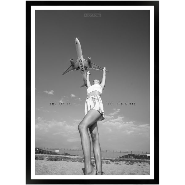 The Sky is not the Limit II by Alex Pohl | Poster mit Holzrahmen 50x70 cm