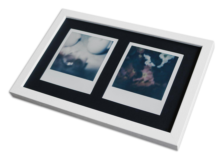 polaroid bilderrahmen a850 wei gemasert 24 6 x 15 7 normalglas inkl passepartout schwarz 2x. Black Bedroom Furniture Sets. Home Design Ideas